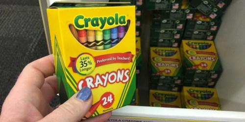 Best Office Depot School Supply Deals   50¢ Crayola Crayons & More!
