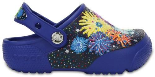 Crocs: Extra 25% Off Clearance = Kid's Light Up Firework Crocs Just $18.74 (Regularly $40)