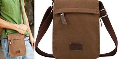 Amazon: Berchirly Vintage Canvas Small Crossbody Messenger Bag Only $12.99