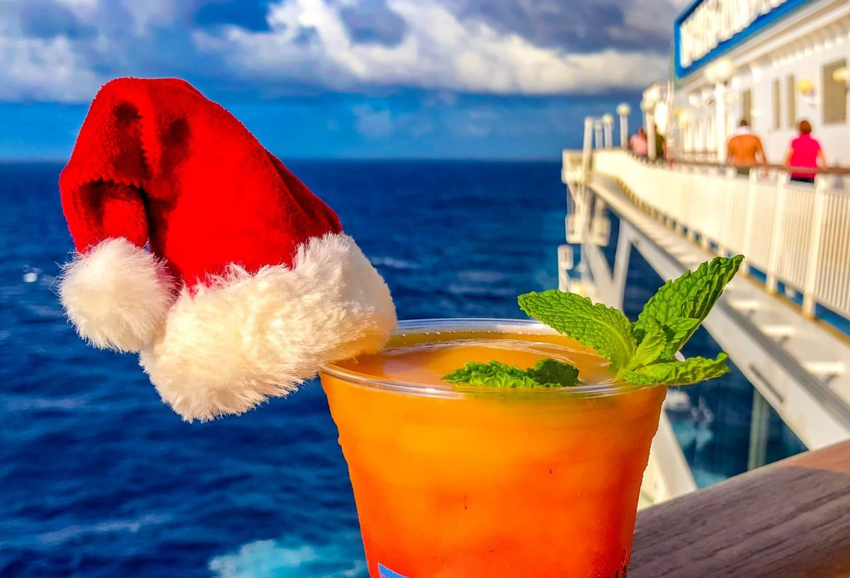 tropical drink on cruise ship