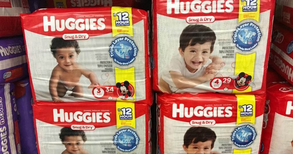 huggies diapers on shelf