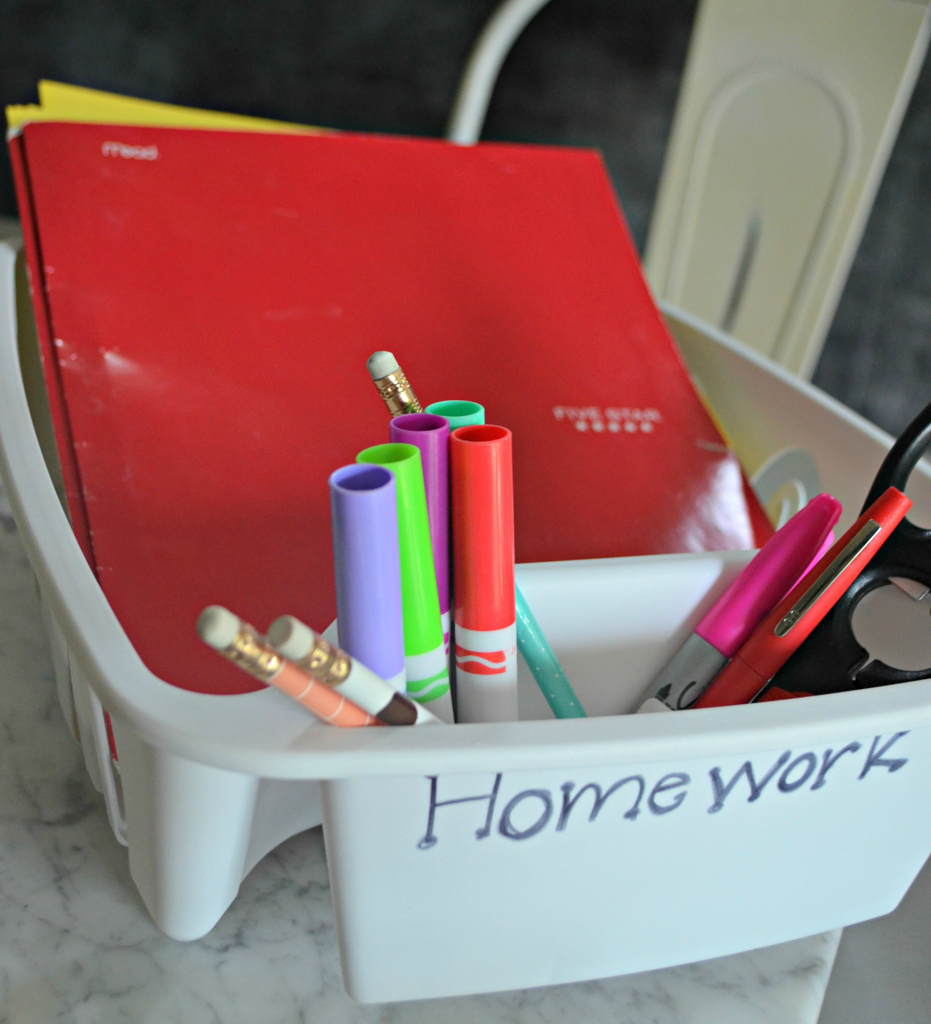 Dollar Tree Back to School hacks – organize folders and papers