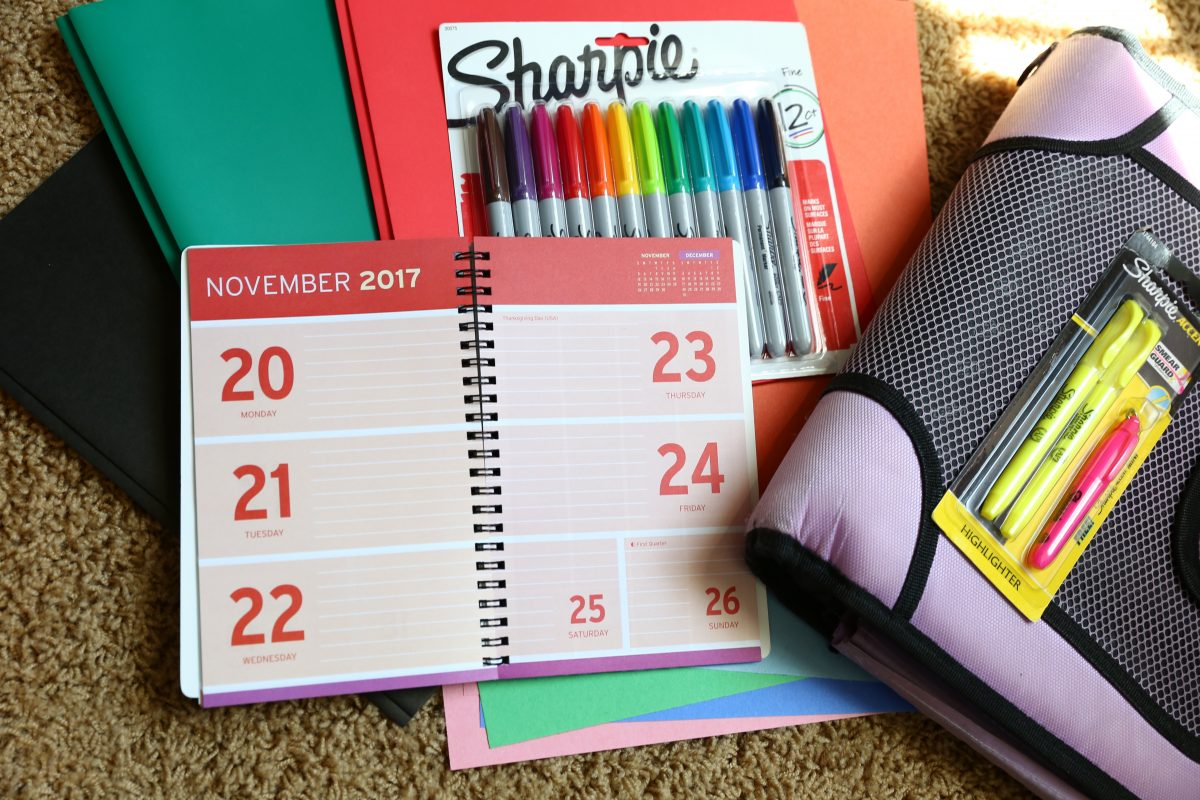 Dollar Tree Back to School hacks – student planner and markers
