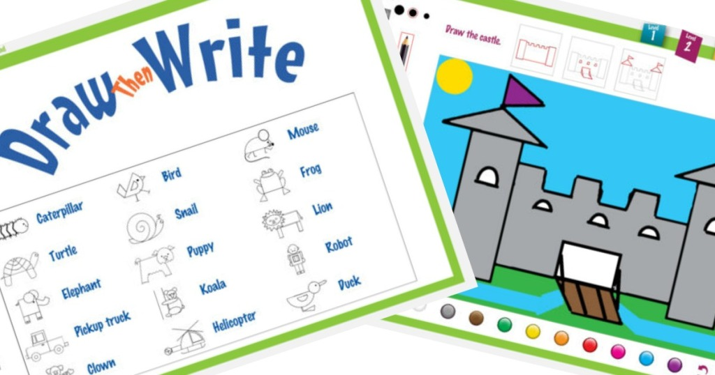 FREE Draw Then Write iTunes App Download (Great for K-3rd Grade)
