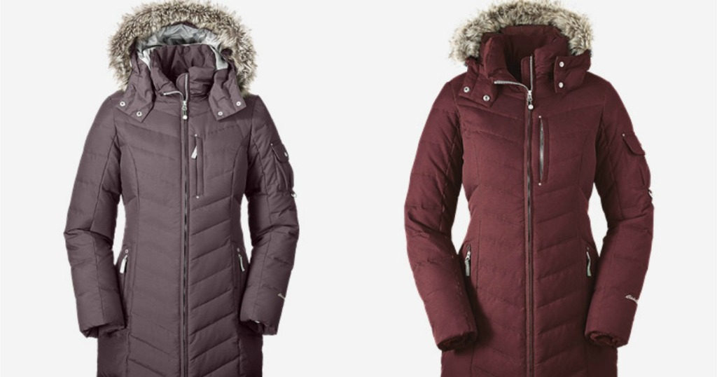 f6e9e31855701 Hop on over to EddieBauer.com where they are offering up this Women's Sun  Valley Down Parka in Plum or Dark Garnet for just $59.99 (regularly $269).