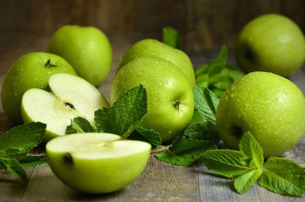 assortment of green apples