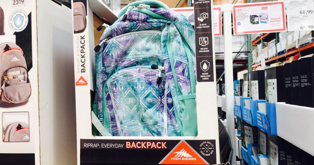 c0baf14aa45 Get Ready for Back to School at Costco! High Sierra RipRap Backpack Just  $15.99 - Hip2Save