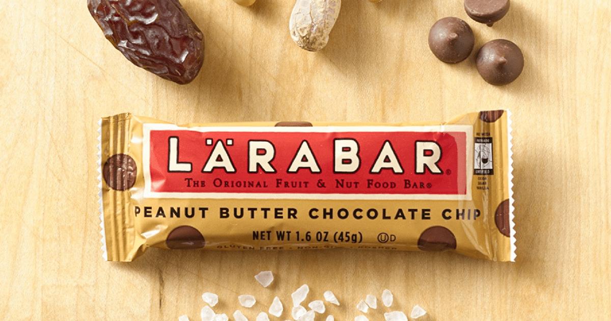 a peanut butter chocolate chip Larabar