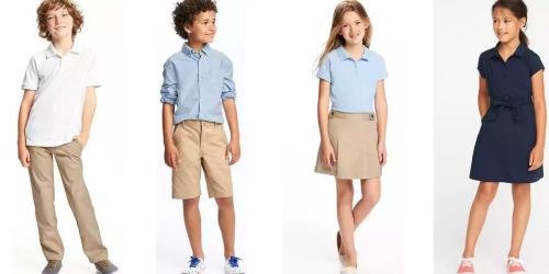 Old Navy: TWO Pairs of Uniform Pants or Jumpers ONLY $19.94 (Just $9.97 Each)
