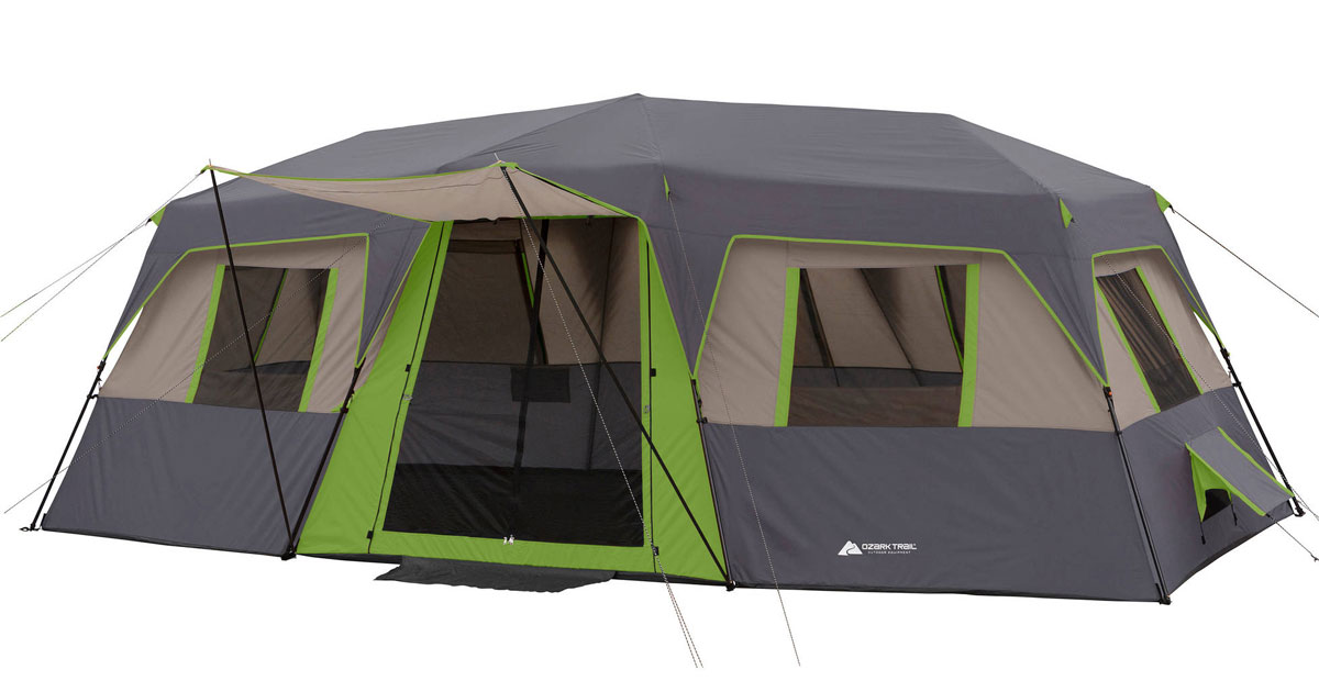 Walmart Com Ozark Trail 12 Person Instant Cabin Tent Only