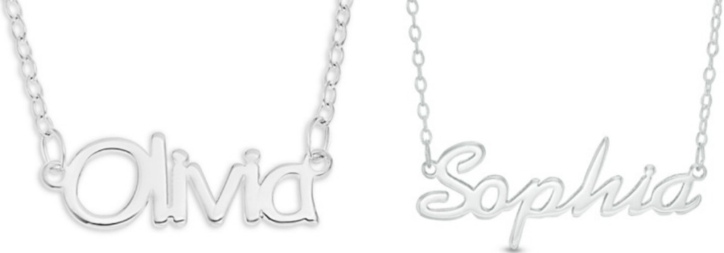 6a97c8151ddac Zales Personalized Sterling Silver Necklaces ONLY $15.99 (Regularly ...