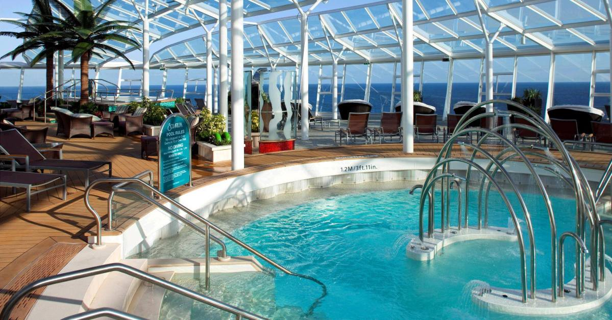 pool and deck area on cruise ship
