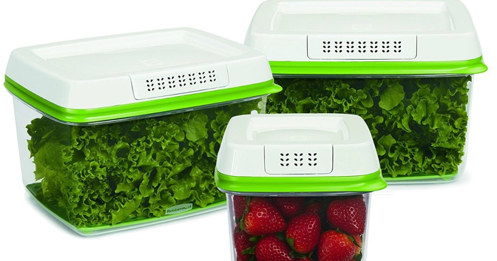 Rubbermaid FreshWorks Produce Saver Food Storage Container Set