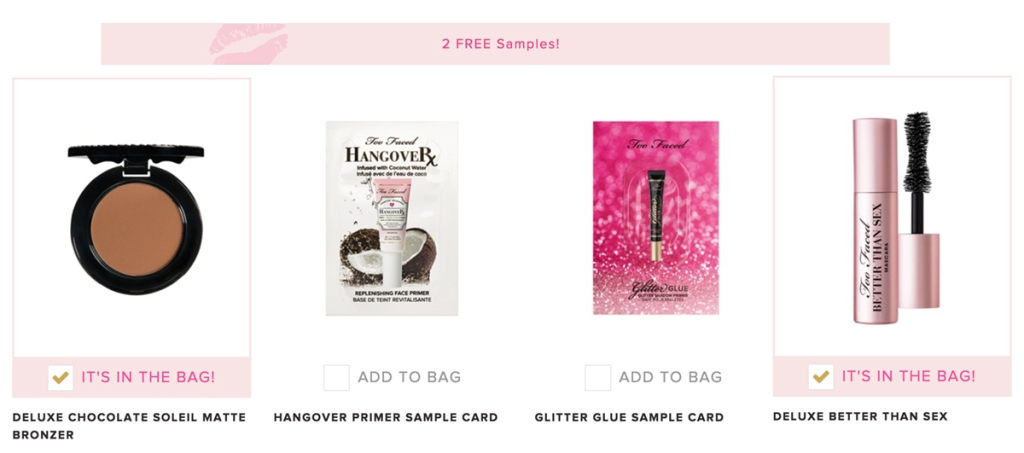 Buy Too Faced Better Than Sex Mascara & Get Free Deluxe ...