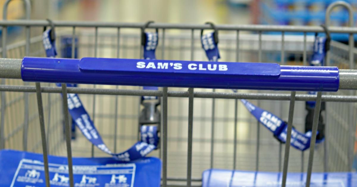Sam's Club shopping cart closeup