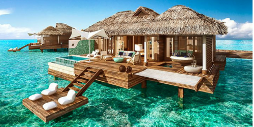 65% Off Sandals or Beaches Resort Vacation + Free Photo Package, Swarovski Crystal Blanket & More