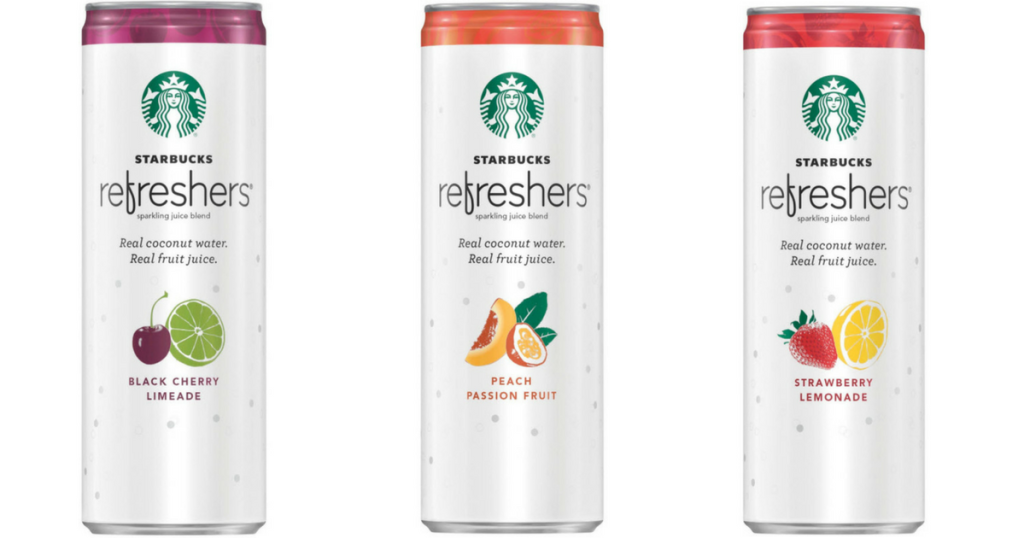 Five New Starbucks Refreshers Sparkling Juice Blends Coupons