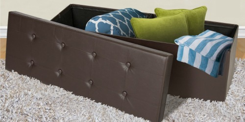 Large Foldable Storage Ottoman ONLY $35.06 Shipped (Great for Small Spaces)