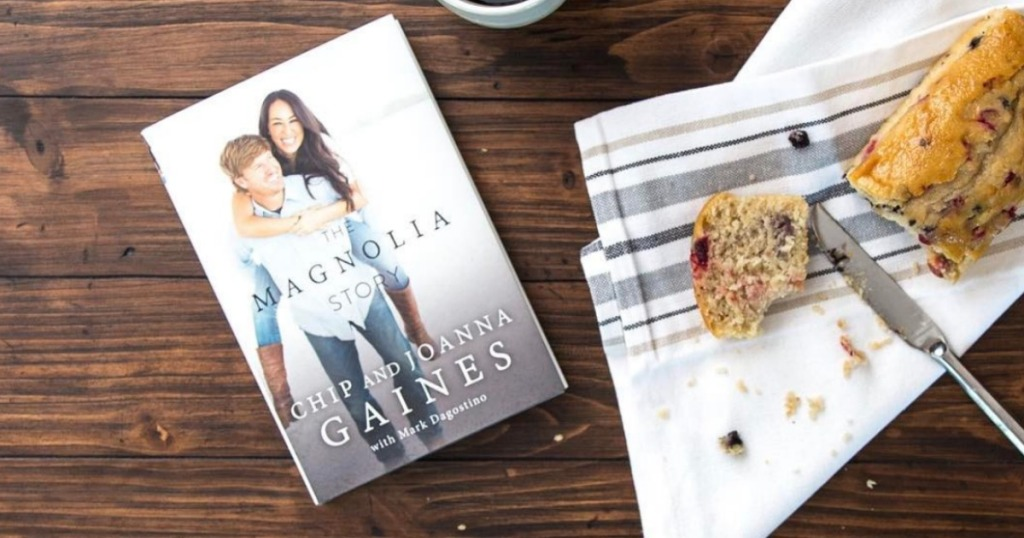 Magnolia book on counter