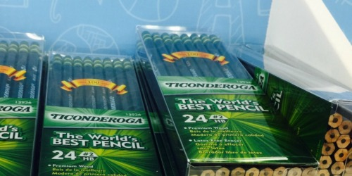 HOT Staples Deals: Ticonderoga Pencils 24-Pack $2.80, BIC Highlighters 5-Pack 25¢ & More