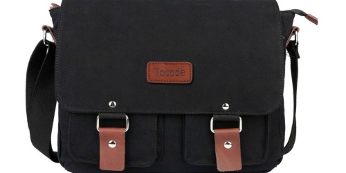 Amazon: Tocode Canvas & Leather Messenger Bag Only $20.99 Shipped