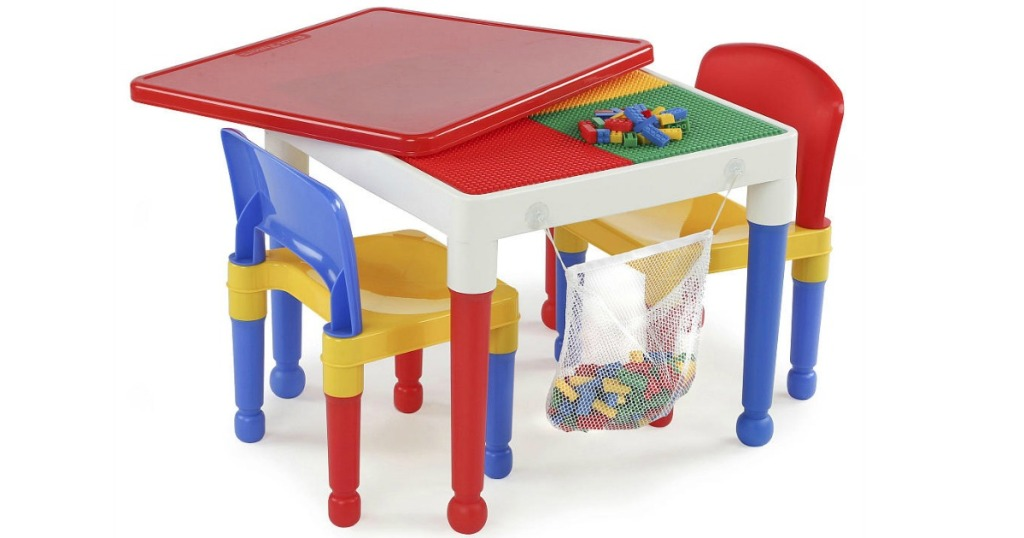 Toysrus 2 In 1 Lego Activity Table W 2 Chairs 100 Blocks