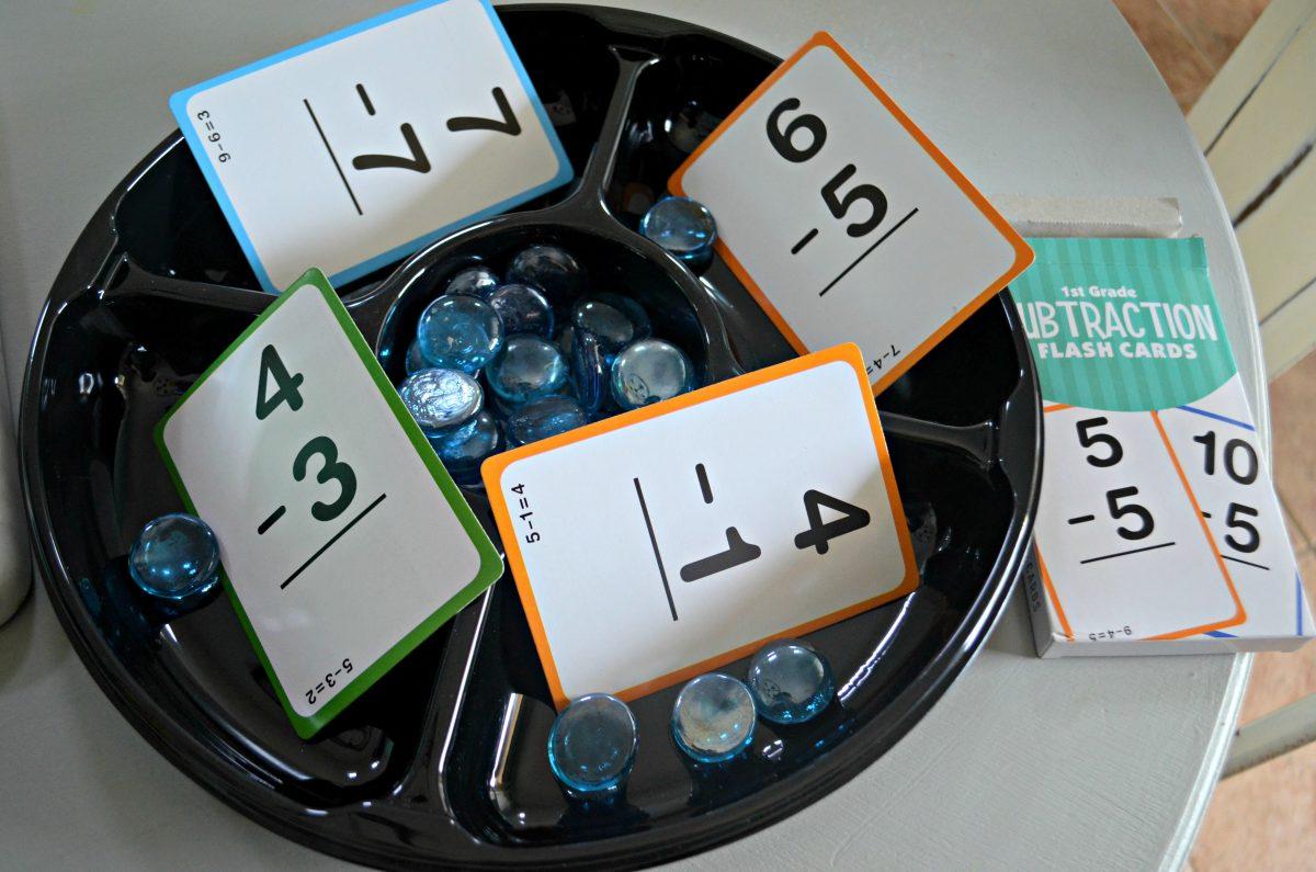 Dollar Tree Back to School hacks – math practice tray