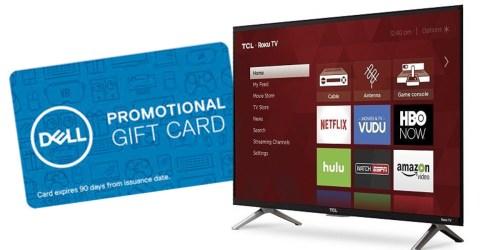 Dell.com: 43″ Roku Smart TV AND $100 Dell eGift Card Just $329.99 Shipped