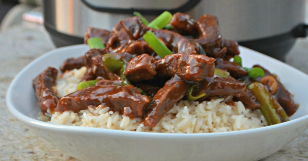 instant pot mongolian beef over rice