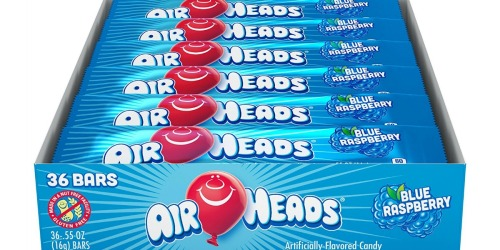 Amazon: Airheads Blue Raspberry Bars 36-Count Pack Only $6.01 Shipped