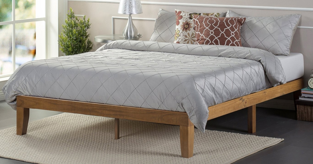 Zinus King Size 12 Quot Wood Platform Bed Only 127 67 Shipped
