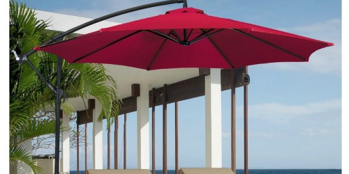 10 Foot Hanging Patio Umbrella Only $44.99 Shipped