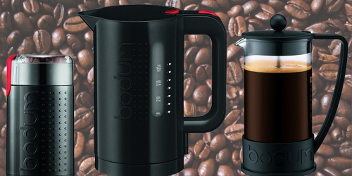 Bodum French Press Coffee Maker, Grinder AND Electric Water Kettle Only $39.93 Shipped