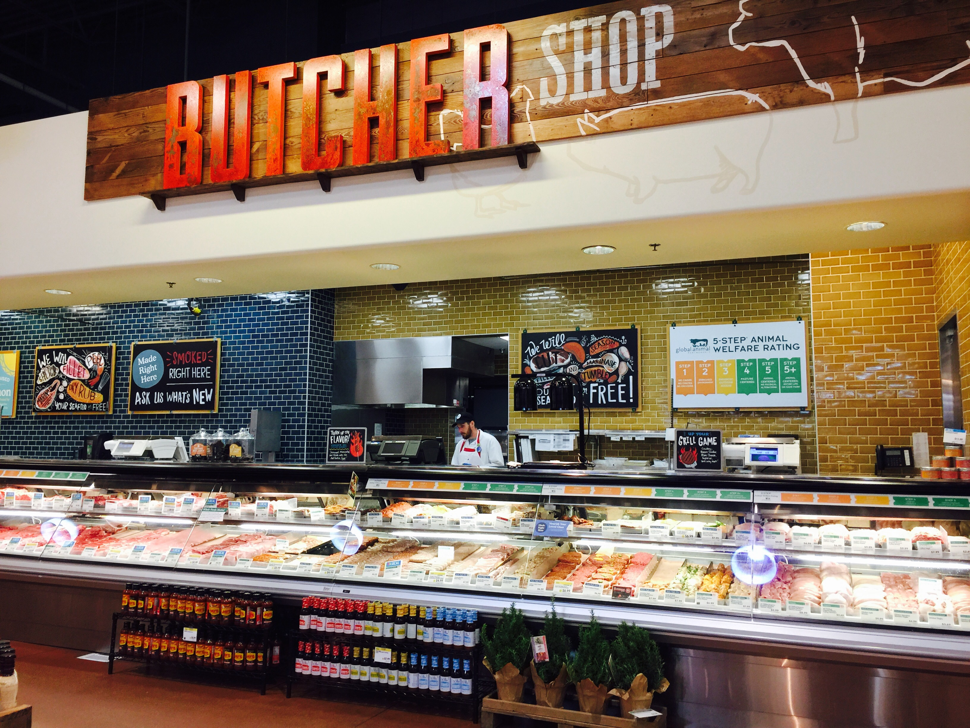 money-saving hacks at Whole Foods Market – butcher section of the store