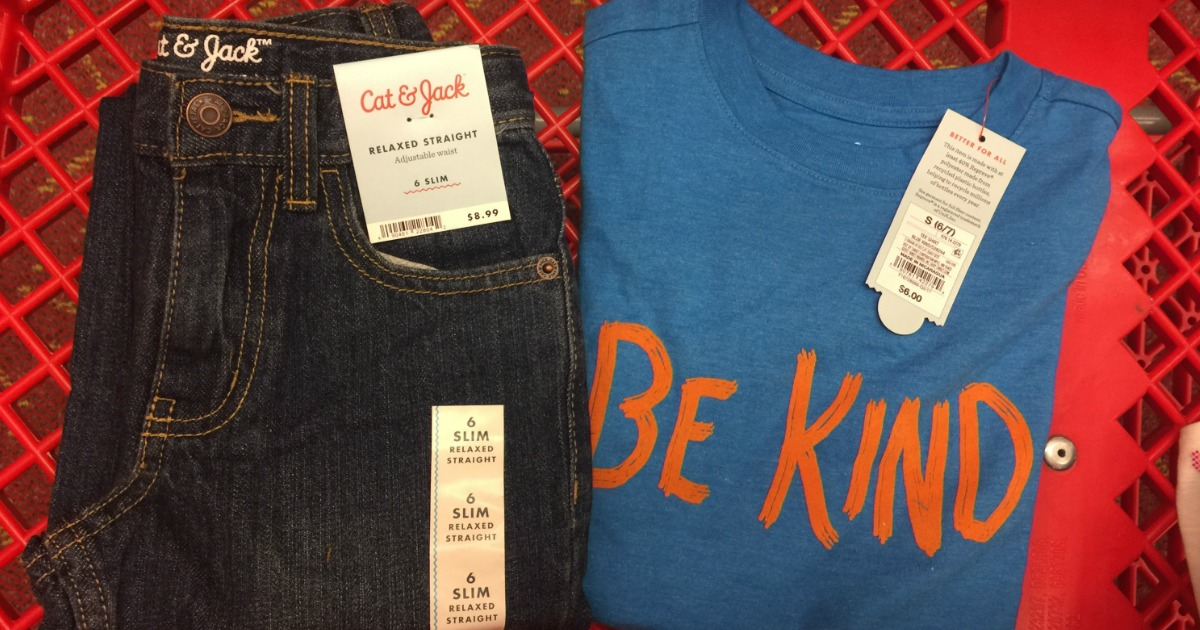 d4ee0963d Through August 19th, Target is offering up sweet sale prices on Cat & Jack  Jeans for kids, babies and toddlers – prices start at just $6!