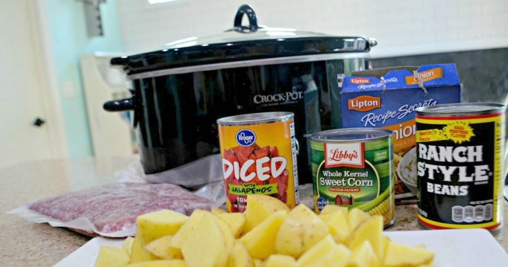cowboy slow cooker meal ingredients