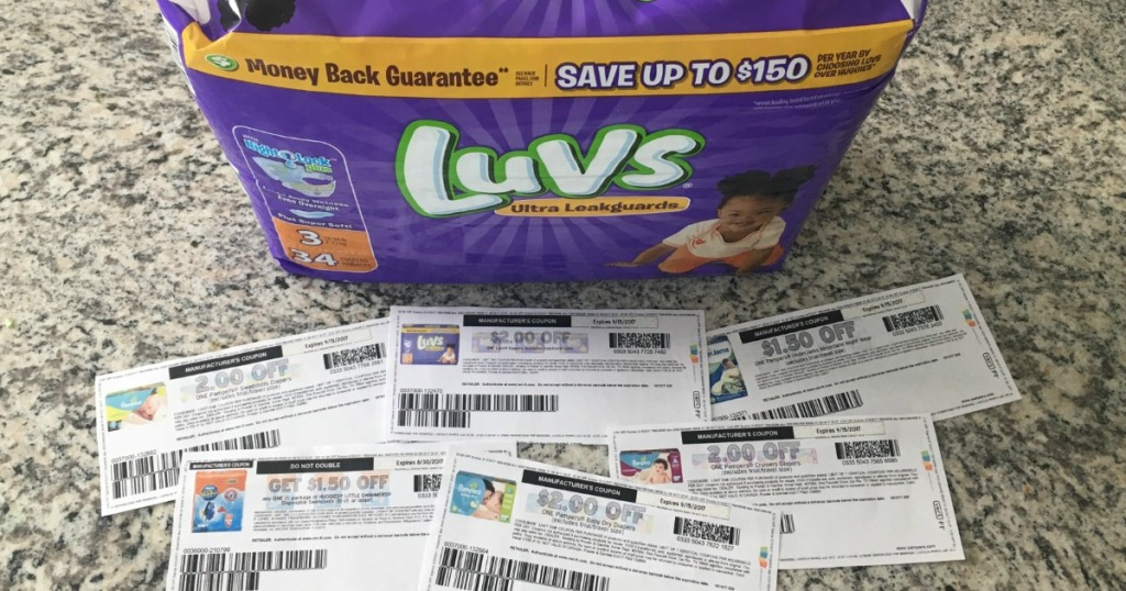 printable diaper coupons by Luvs diapers pack