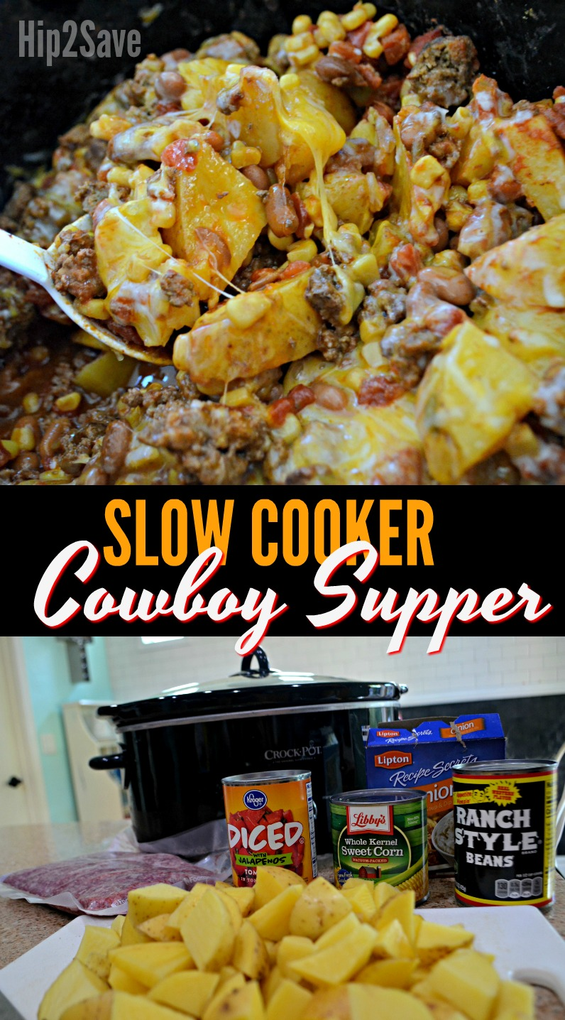 Easy Crock Pot Weeknight Meal Idea Cowboy Supper