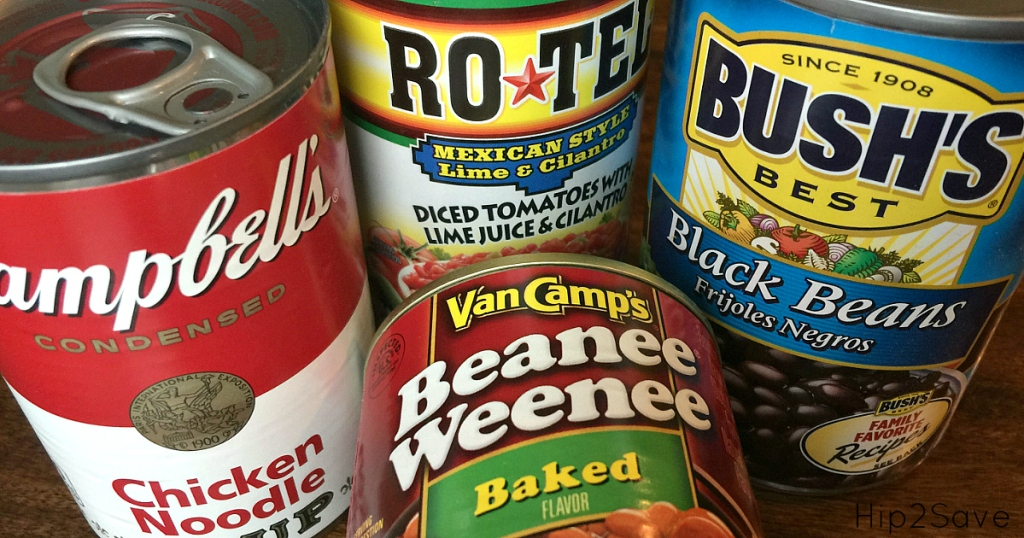 donate canned goods to a Food Bank