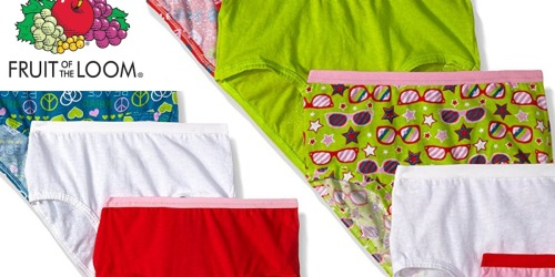 Fruit of the Loom Girls' Briefs 9-Pack Only $5.97 (Just 66¢ Each)