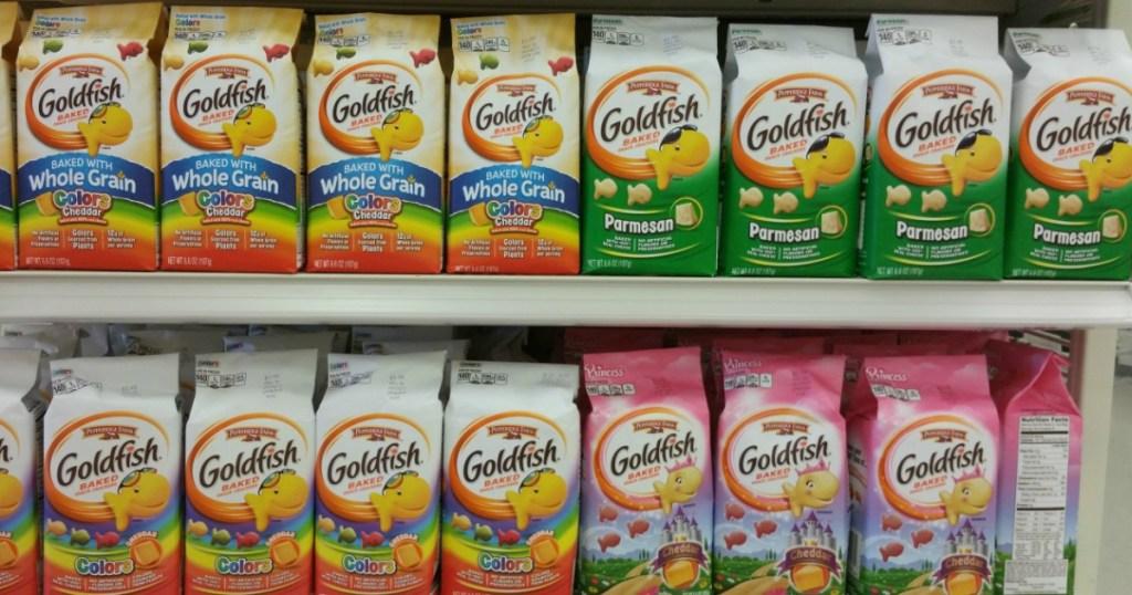 goldfish on shelf