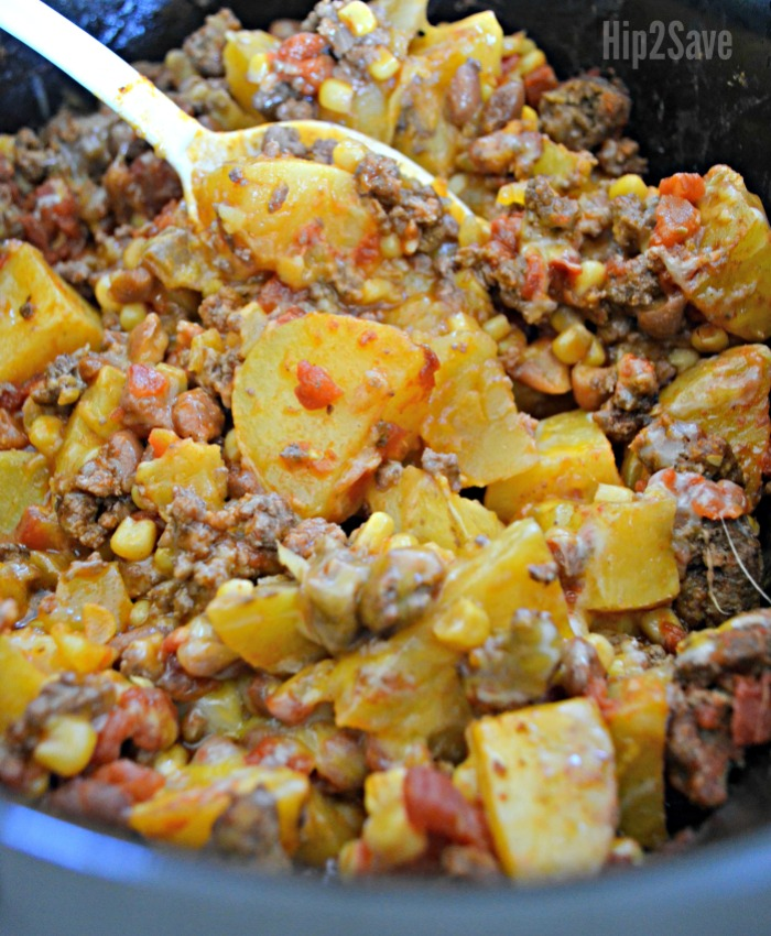 Meal Ideas For Ground Beef: Slow Cooker Cowboy Supper (Easy Weeknight Meal Idea