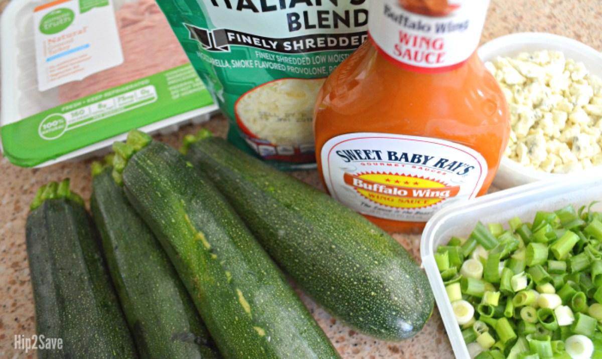 zucchini and Buffalo wing sauce