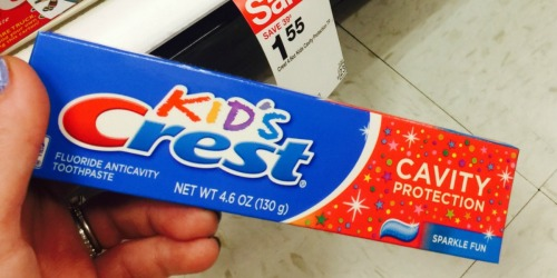 Kids Crest Cavity Protection Toothpaste Only $1 Each After Target Gift Card