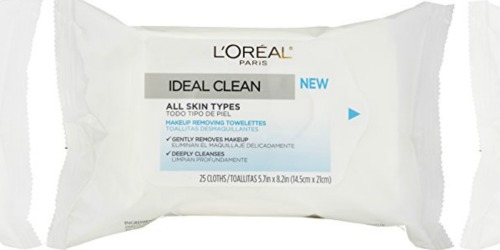 Amazon: L'Oreal Paris Makeup Removing Towelettes 25-Count Only $2.24 (Add-On Item)