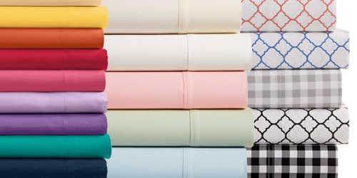 Macy's: 410 Thread Count 4-Piece Sheet Set Only $29.99 Shipped (ALL Sizes) & More