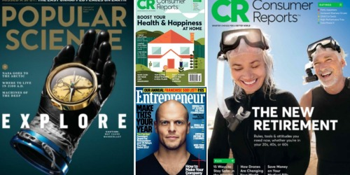 HUGE Magazine Sale: Save on Popular Science, Entrepreneur, Consumer Reports & More