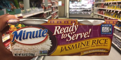 New $0.75/1 Minute Rice Ready Serve Coupon = Jasmine Rice Bowls Just 57¢ At Target