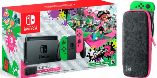 Pre-Order the Nintendo Switch Console with Splatoon 2 Bundle for $379.96 Shipped