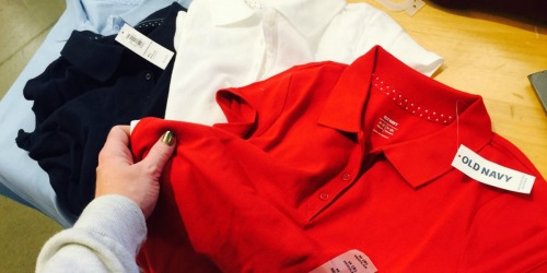 Old Navy Uniform Polos Only $3 (Score $10 Coupon w/ In-Store Pickup)